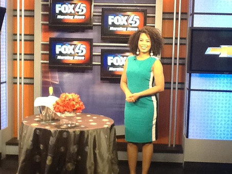 Gourmet Chef Conceirge COO Racquel Williams on Fox 45 Baltimore promoting Blissful Grandeur: A Pop-