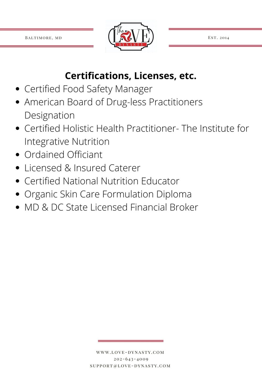 Certifications and Licenses