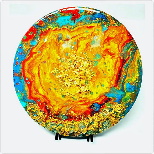 Custom Vinyl Record Pour Painting