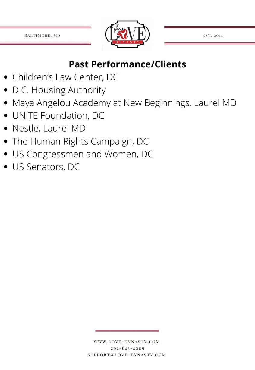 Past Performance and Clients