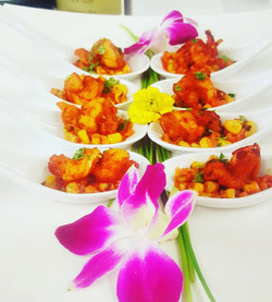 Spicy Shrimp on a bed of Sweet Corn