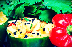Asian Chicken Salad in Cuc Cups