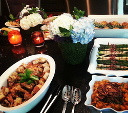 VIP Lunch Spread with Florals