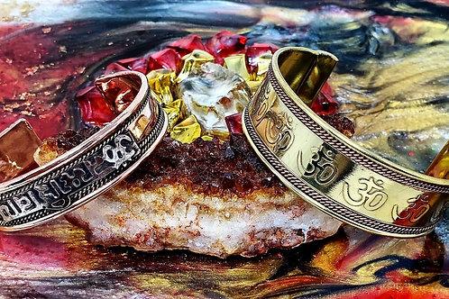 Brass & Copper Om Bracelet