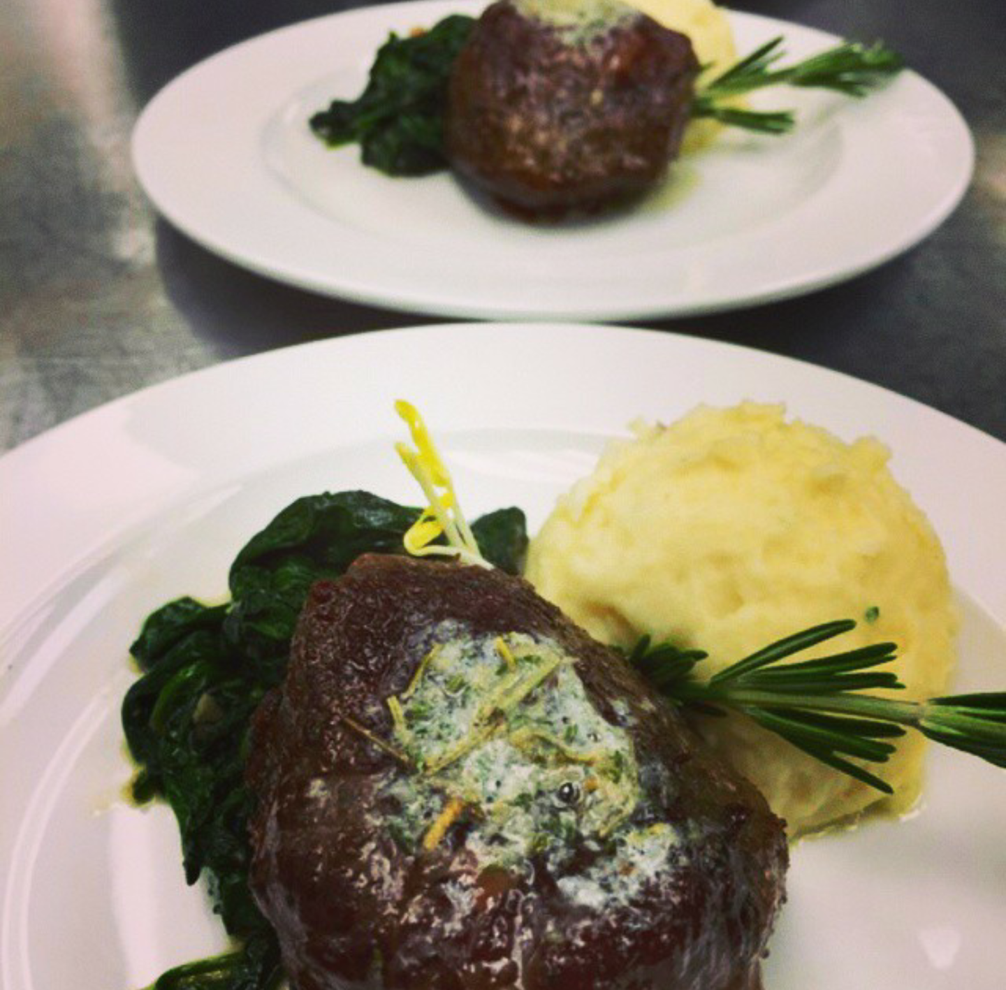 Short Rib with Herb Butter Whipped P