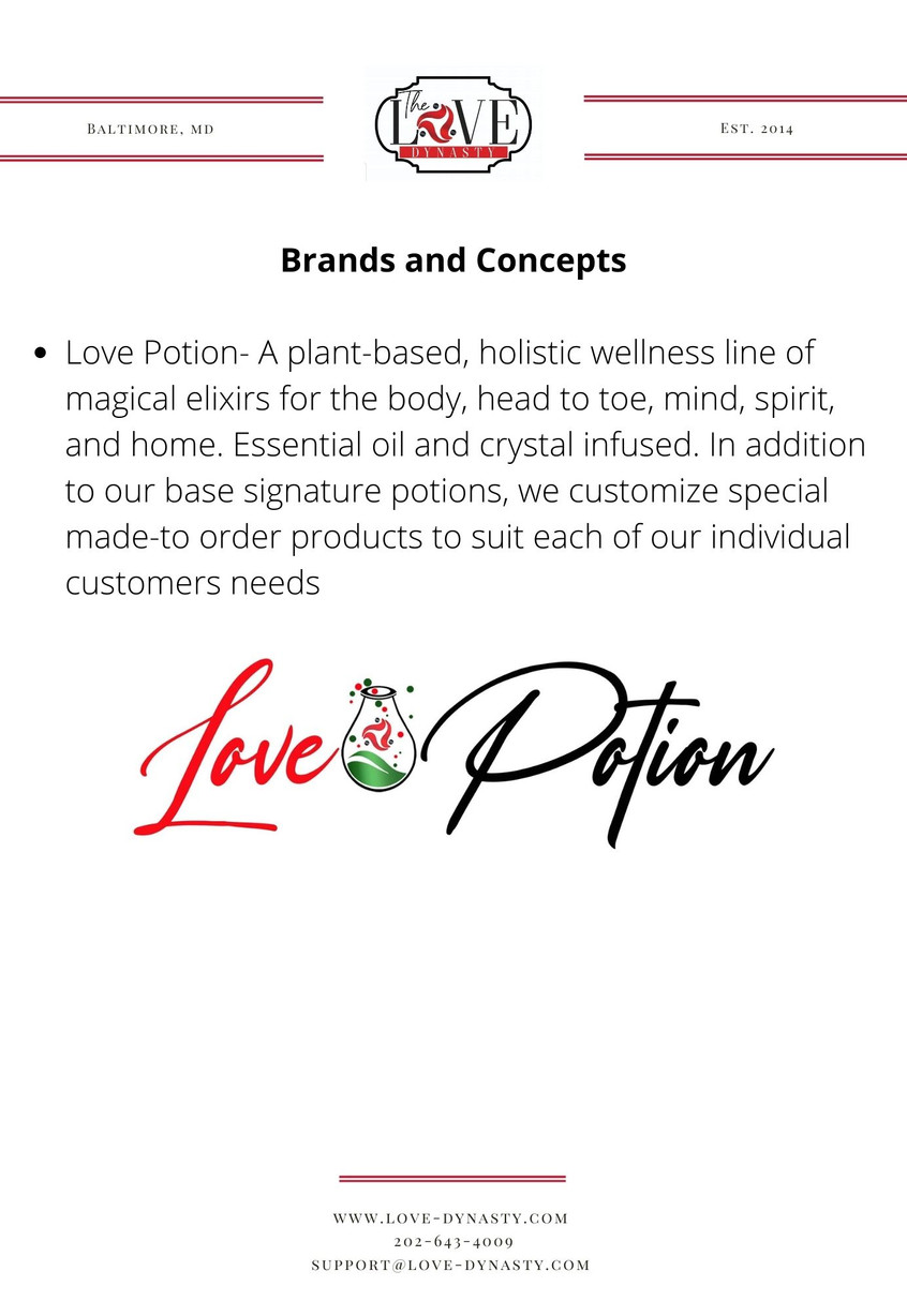 Brands and Concepts- Love Potion
