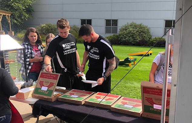 CVTC First Day of Class - Fire Truck Pizza