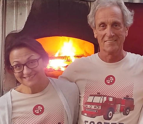 Bill & Tess owners of Fire Truck Pizza