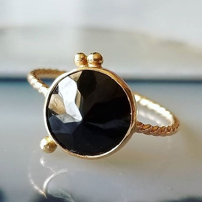 I love the facets on this stone _14k gol