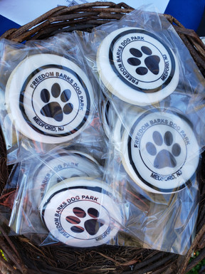 We tried something new and sold sugar cookies from Sweet Melissa's Cakery and cinnamon dog biscuits from K-9 Kakes Pet Bakery!