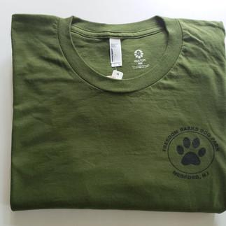 Olive Freedom Barks T-Shirt