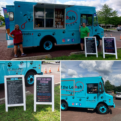 Thank you so much to Jill and Terri for bringing #thebigbluetruck to Medford! For more information about Off the Leash, including their calendar of events, check out their website!
