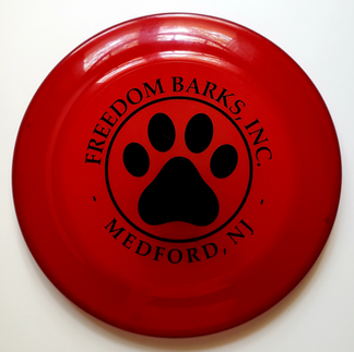 Freedom Barks Frisbee
