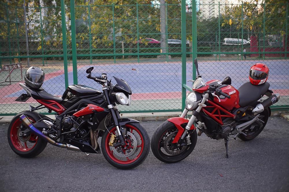 Triumph 675rx vs. Ducati 795