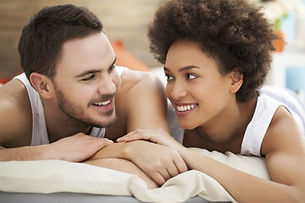 interracial-couple-looking-at-each-other