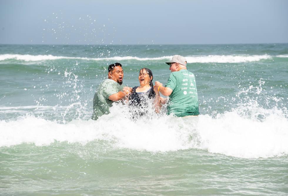 Powerful time of Baptisms! Over 200+ baptized!
