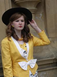 1980s Yellow Silk Suit