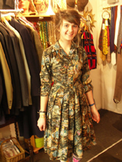 1950s Print Frock