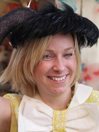 BBC Glos's Faye Hatcher in 50s Feath
