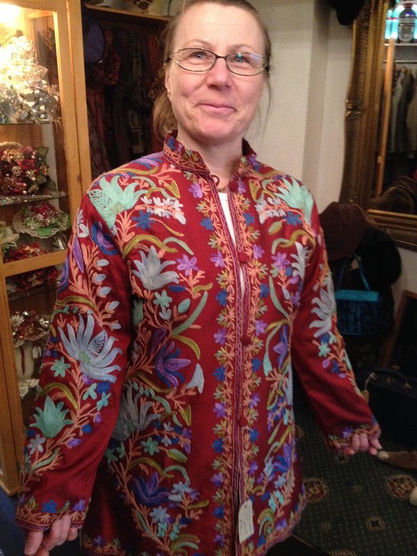 Hand Embroidered Cashmere Jacket