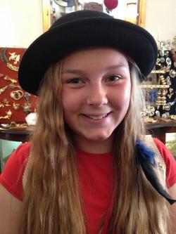 Her first vintage hat...