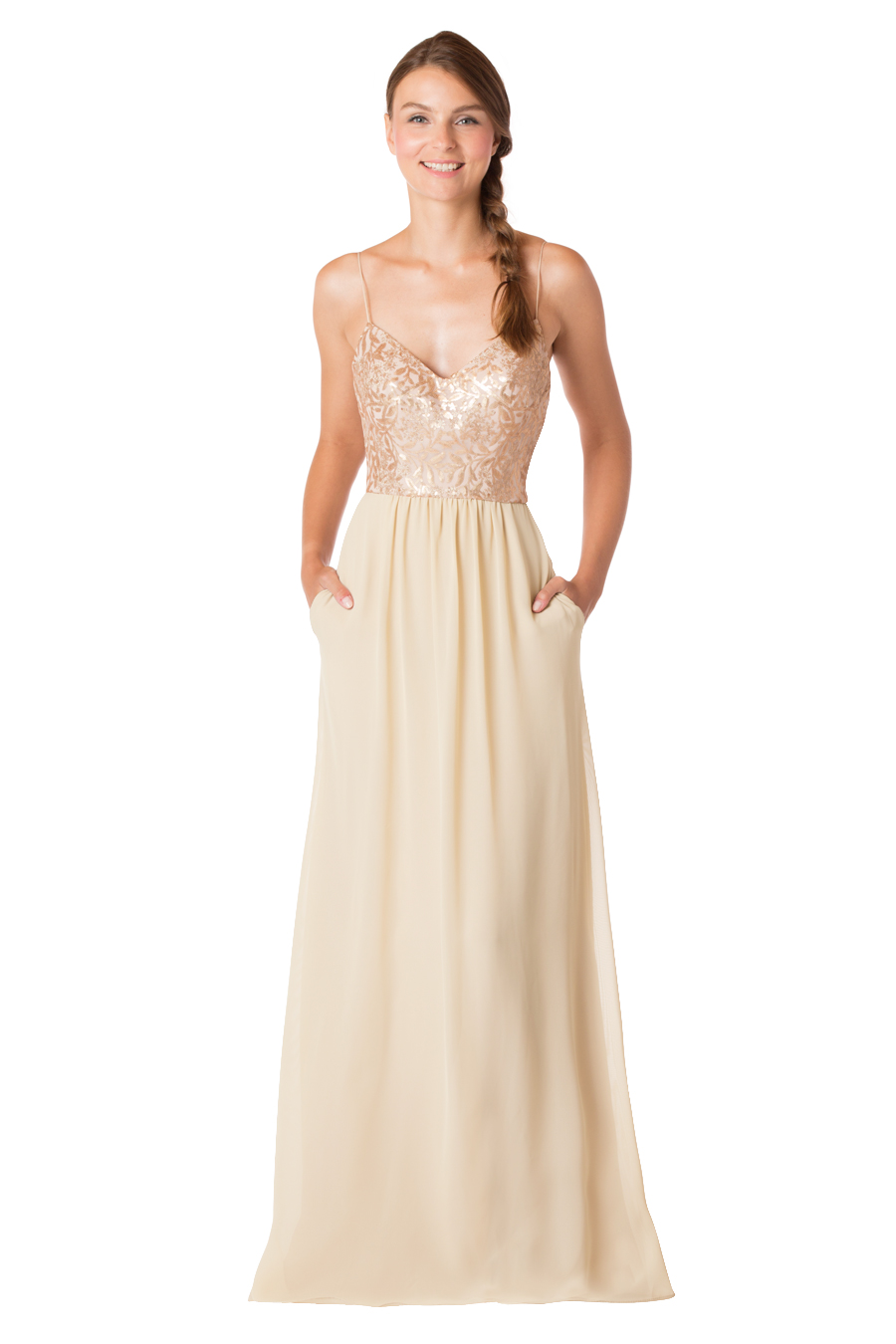 e87ab234fe Slim fit halter neck sequin dress with pleated front bodice