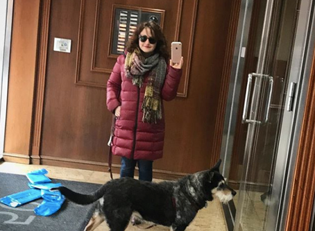 recovery fashion part 14: coat, scarf, + dog leash