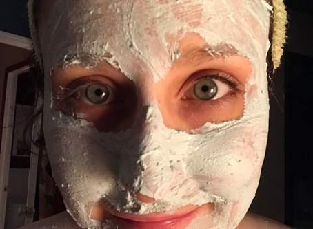 recovery fashion part 15: clay mask/little luxuries for painful days