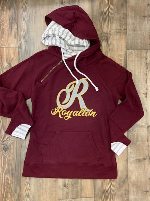 Royalton ladies double hooded pullover
