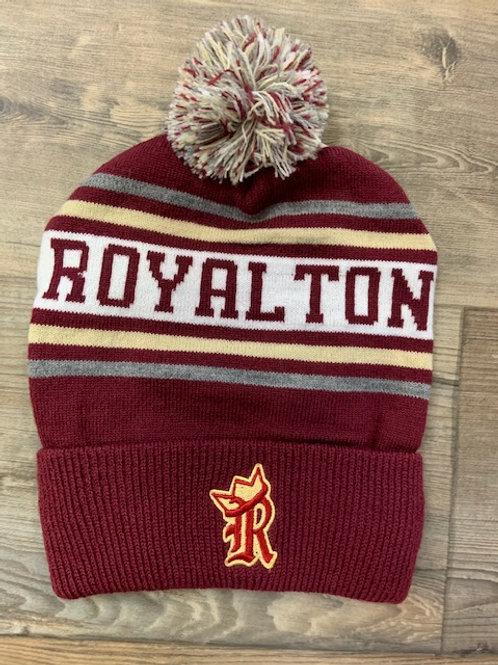 Royalton Royals knit in cuffed pom pom hat