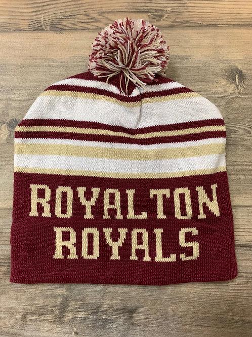 Royalton Royals knit in pom pom hat