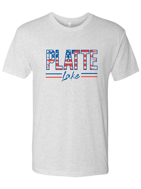 Platte Patriotic Adult and Youth Triblend Tshirt