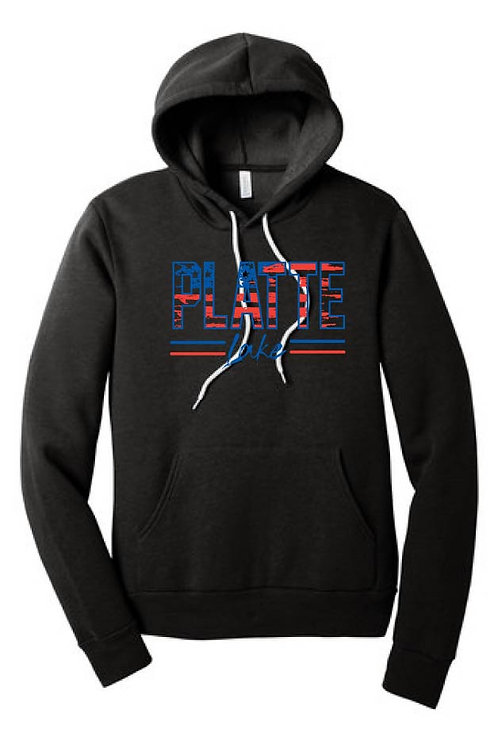 Platte Patriotic Adult and Youth Hooded Sweatshirt