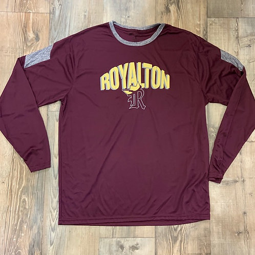 Royalton adult polyester long sleeve tshirt