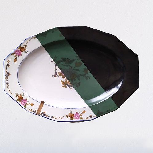Grand plat vintage en porcelaine