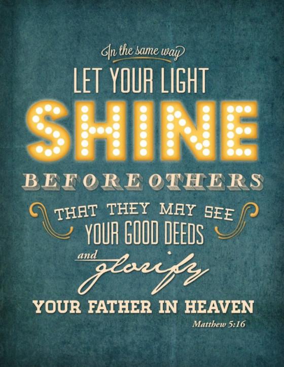 너희는 세상의 빛이라
