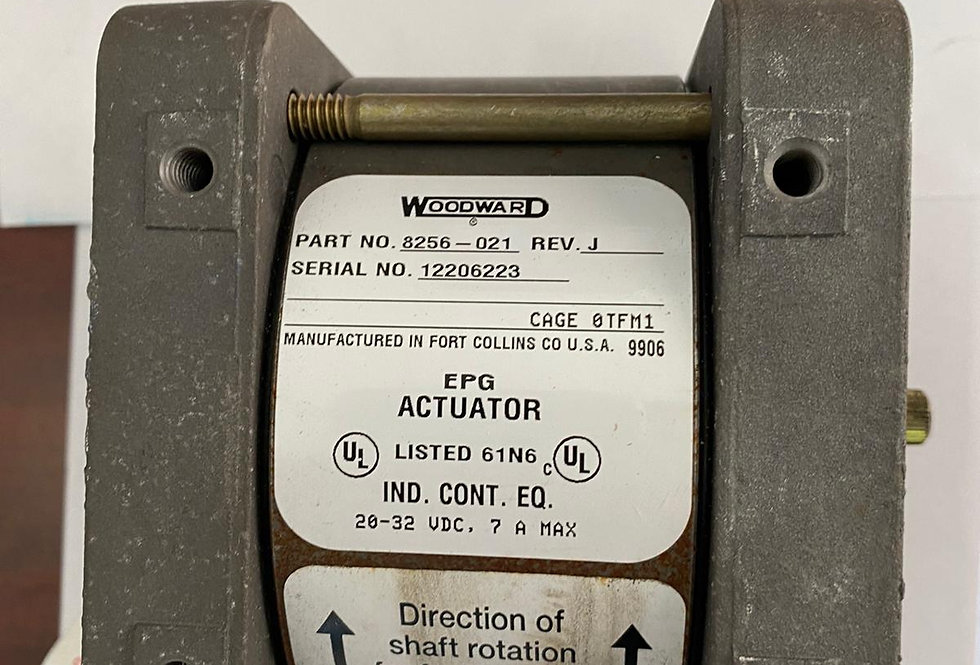 ROTARY EPG ACTUATOR  WOODWARD P/N 8256-021