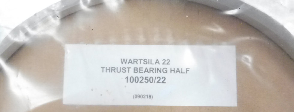 THRUST BEARING HALF- 100250/22