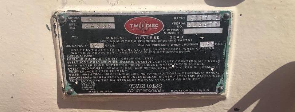 TWIN DISC MG-527