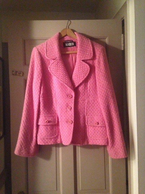 Pink Wool Pattern Size L