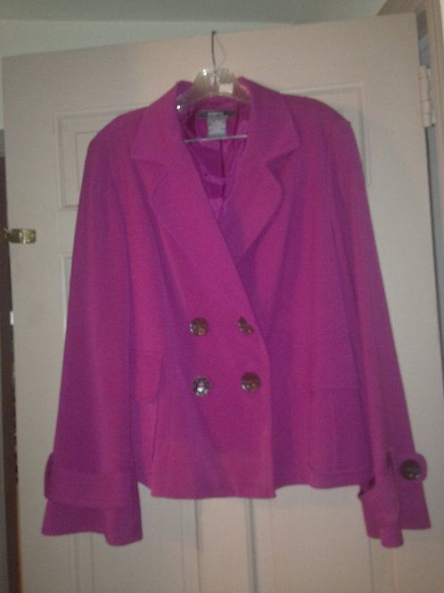 Magenta with brown buttons XL