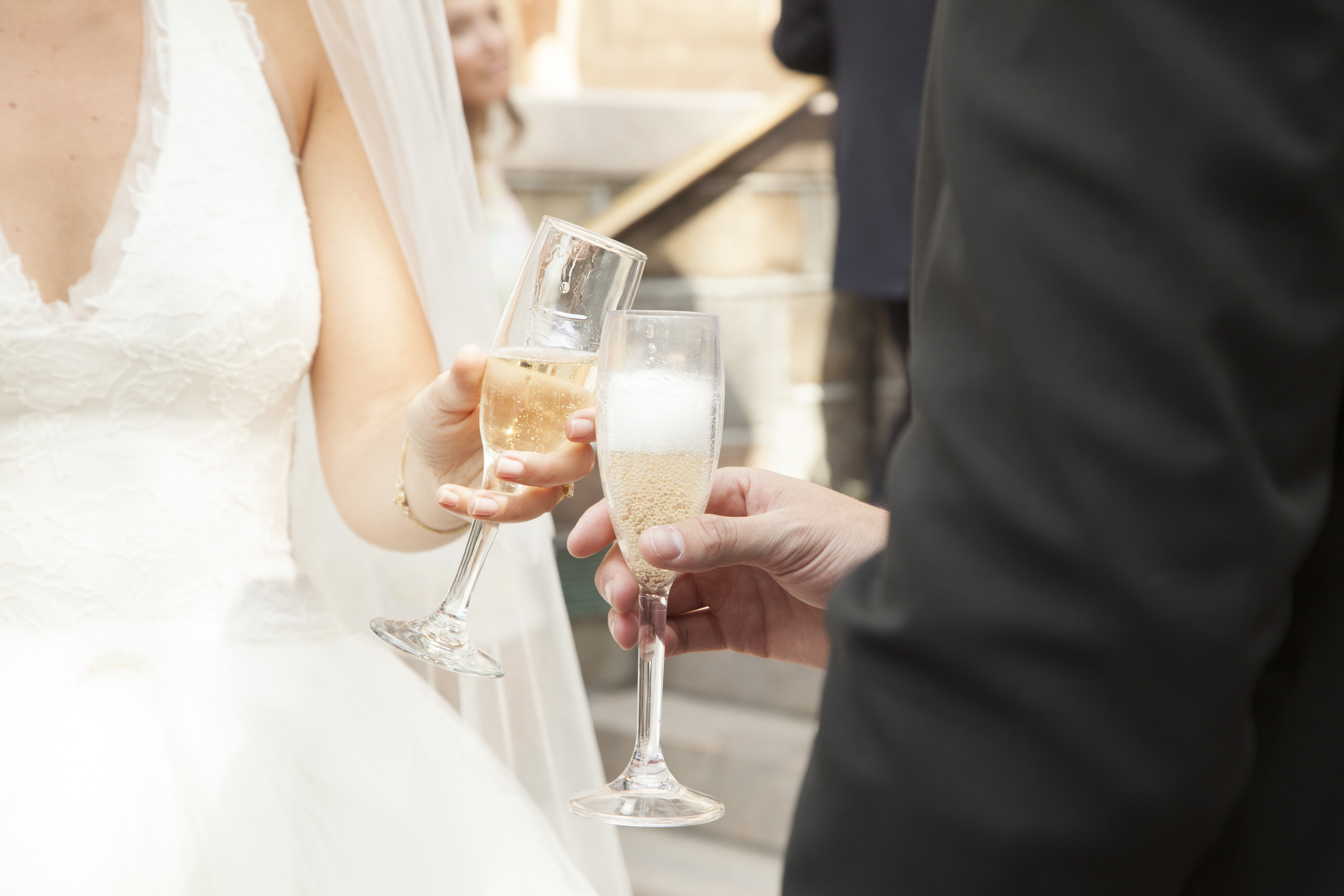 CHAMPAGNE GLASS - JUST MARRIED