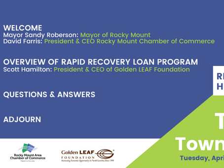 The Rocky Mount Tele Town Hall #2: Golden LEAF Foundation