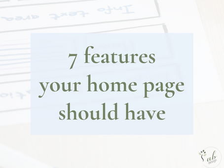 7 features your home page should have