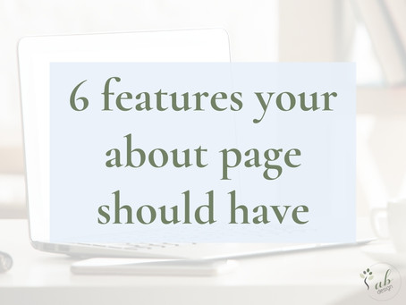 6 features your about page should have