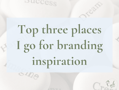 Top three places I go for branding inspiration
