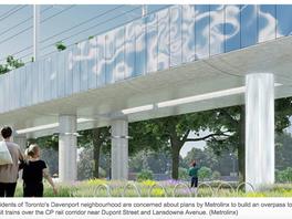 Davenport GO train bridge stirs opposition from residents