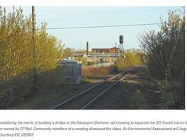 Residents wary of Metrolinx's plans to eliminate Davenport Diamond with 'super bridge'