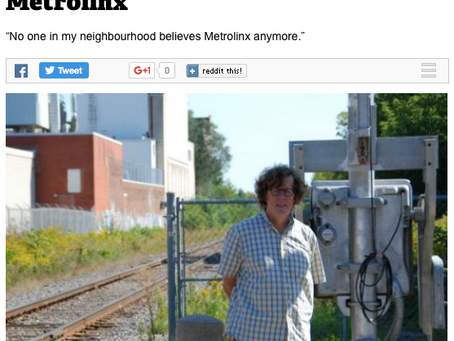 Toronto Junction residents fed up with lack of transparency from Metrolinx