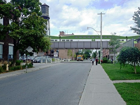 Davenport residents join together to protest bridge and support tunnel from Bloor to Davenport